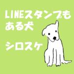 白い犬イラスト-無料素材