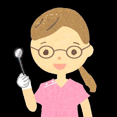 眼鏡をかけた女性歯医者さんのイラスト
