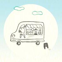 フードカー(フードワゴン)のイラスト