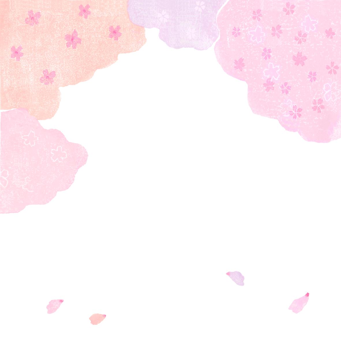 桜,春の背景イラスト