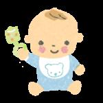 赤ちゃん(正面向)イラスト-無料素材