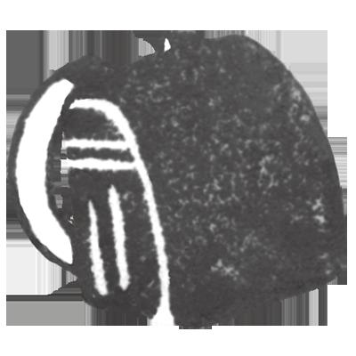 ランドセル(黒色)の無料イラスト画像