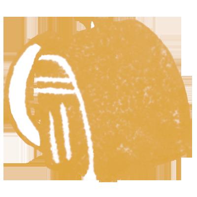 ランドセル(キャメル色)の無料イラスト画像