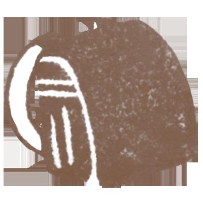ランドセル(こげ茶色)の無料イラスト画像