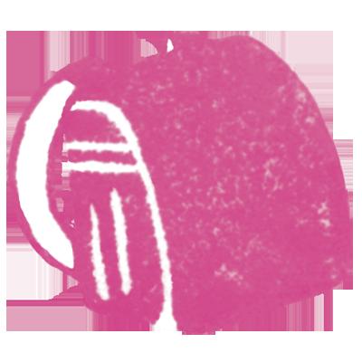 ランドセル(濃いピンク色)の無料イラスト画像