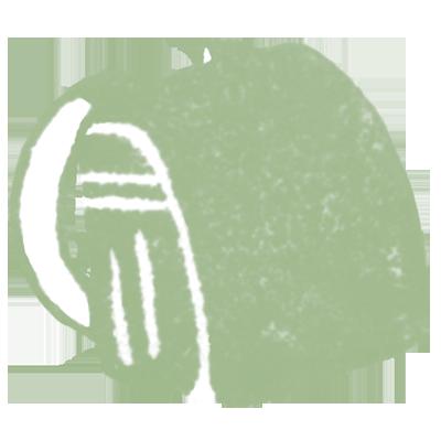 ランドセル(カーキ色)の無料イラスト画像
