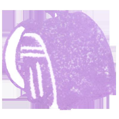 ランドセル(薄紫色)の無料イラスト画像