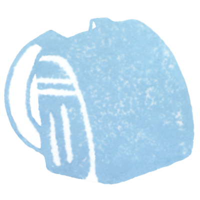 ランドセル(水色)の無料イラスト画像