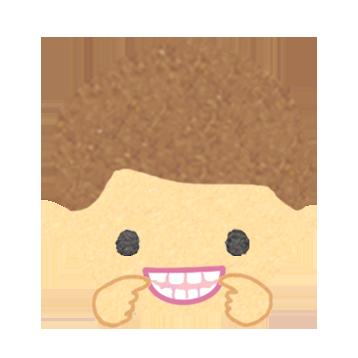 イーっと歯を見せる男の子のイラスト