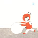 冬の背景イラスト-無料素材