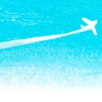 飛行機雲の背景イラスト-無料素材
