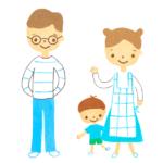 若い家族のイラストA