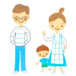 若い家族のイラストB