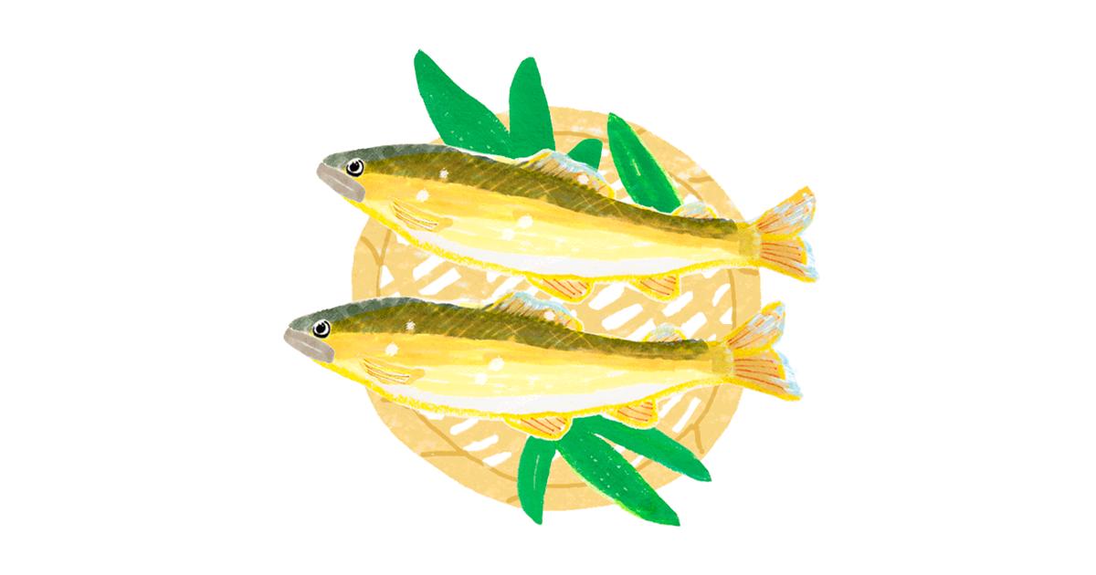 鮎のイラストアイキャッチ画像