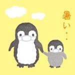 くせっ毛ペンギンのイラスト