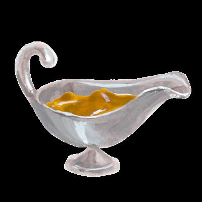 魔法のランプの様な容器に入ったカレーのイラスト画像