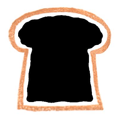 商用利用もOKな無料イラストサイト【フリー素材ずーあん】(制作者/入江めぐみ)の無料パンの耳イラスト