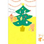 クリスマスのライン背景画像