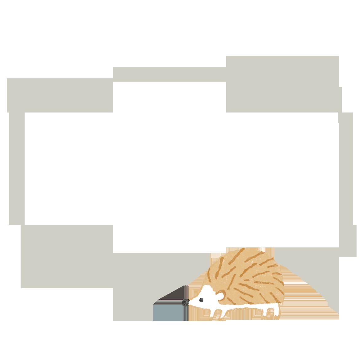 商用利用もOKな無料イラストサイト【フリー素材ずーあん】の名刺を入れるのに丁度いいハリネズミのイラスト付フレーム