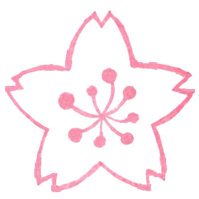 商用利用もOKな無料イラストサイト【フリー素材ずーあん】の桜の花びら(線画)無料イラスト