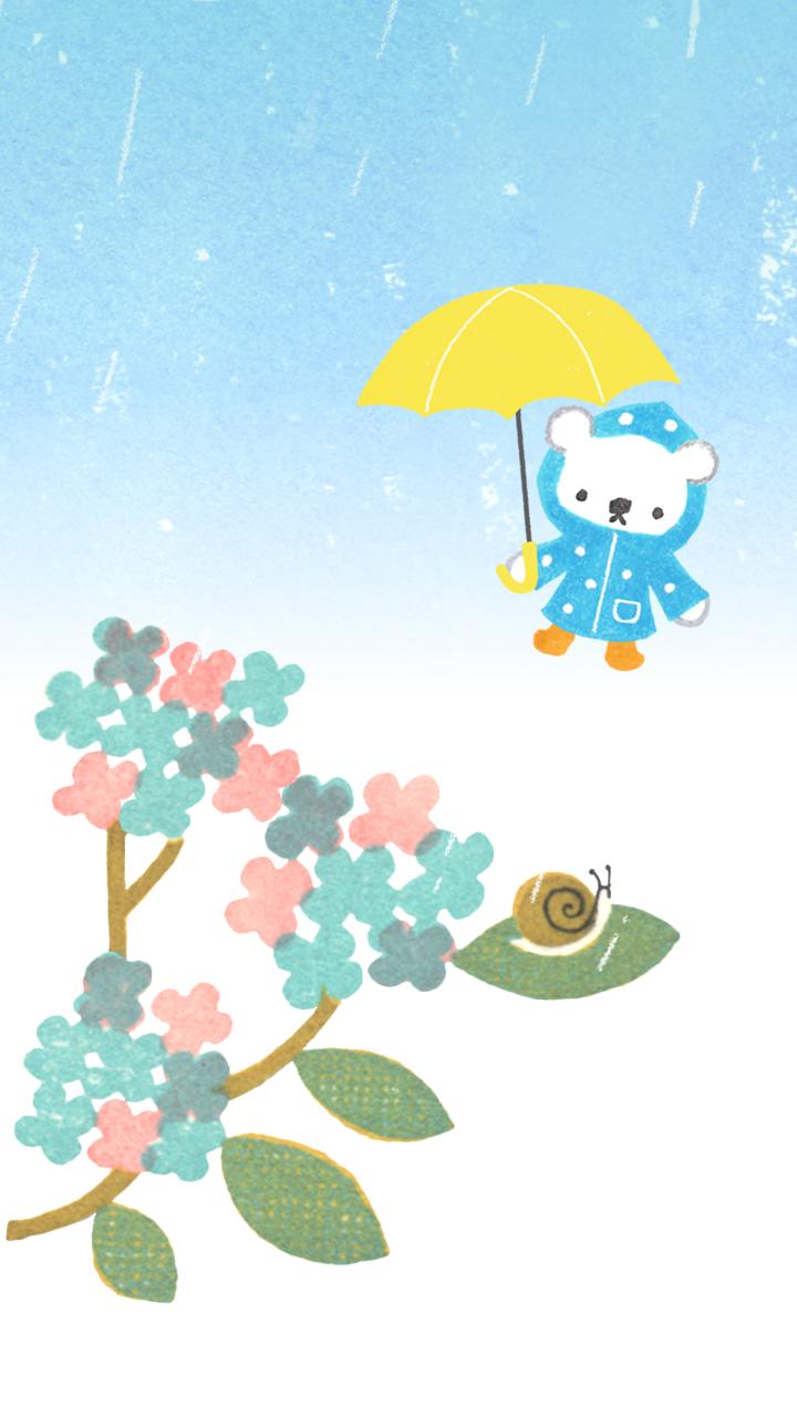 商用利用もOKな無料イラストサイト【フリー素材ずーあん】(制作者/入江めぐみ)の無料梅雨の背景イラスト
