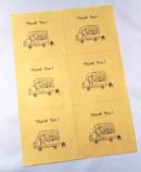フードワゴンのイラストが入ったThank you カードの画像