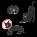 黒猫のカテゴリーイラスト