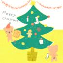 クリスマスのライン背景カテゴリーイラスト