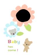 赤ちゃんの誕生をお知らせするカードのイラスト画像