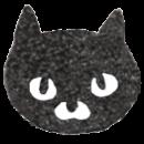 黒猫のアイコンイラスト