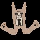 大型犬、グレートデーンのアイコンイラスト