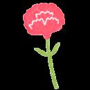 植物カテゴリーページの赤いカーネーションのイラスト