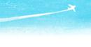 飛行機雲の背景イラスト画像