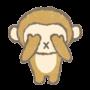 三猿、見ざるイラスト