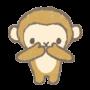 三猿、言わざるイラスト