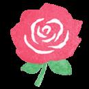 【フリー素材ずーあん】の赤いバラの花の無料イラスト
