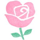 【フリー素材ずーあん】のピンクのバラの花の無料イラスト
