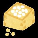 商用利用もOKな無料イラストサイト【フリー素材ずーあん】の節分の升に入った豆、無料イラスト